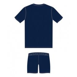 Šortky Nazionale JR Modrá Royal - Bílá
